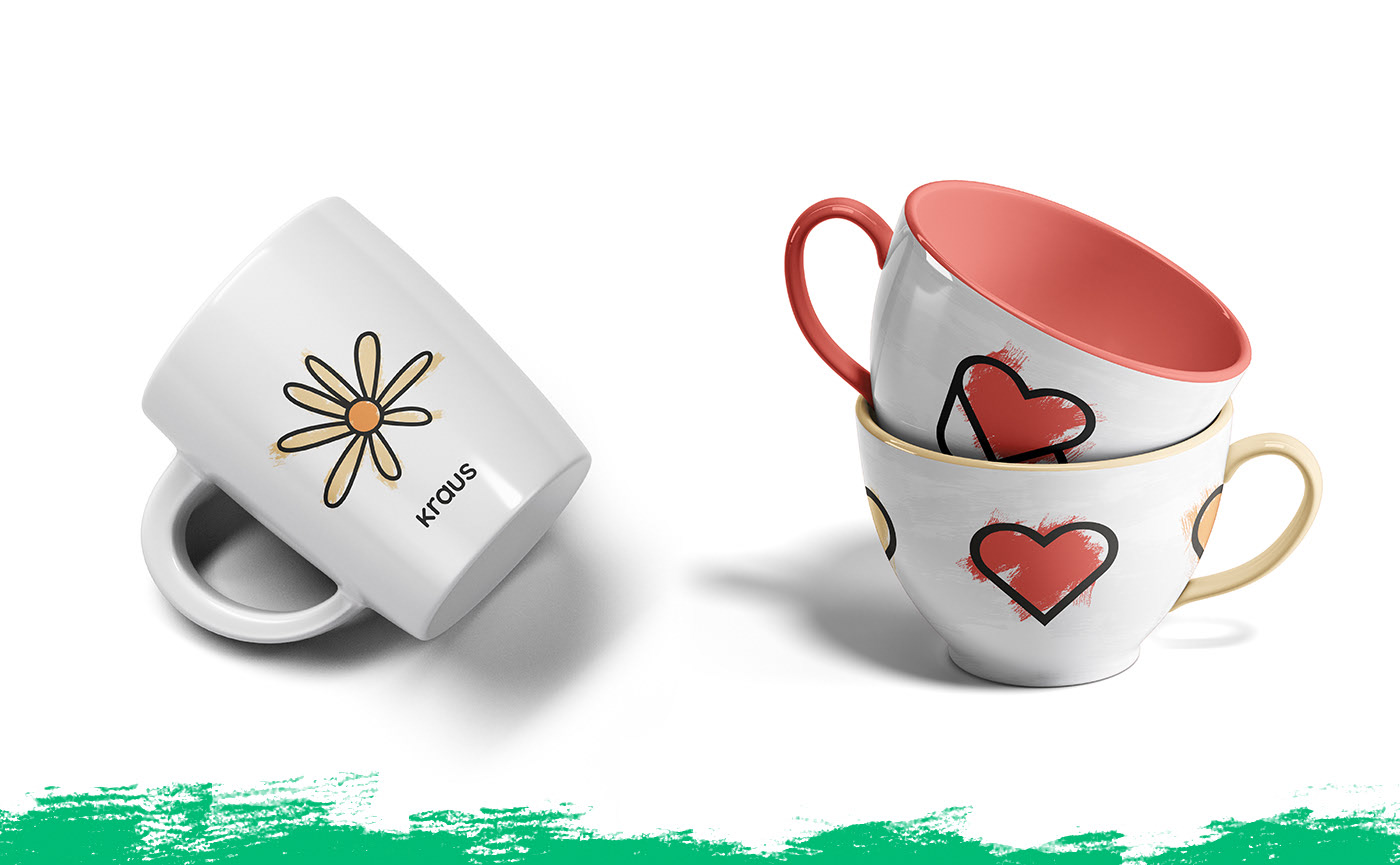 Mockup of coffeemugs © All rights reserved to Niklas Beab - Brand & Graphic Design