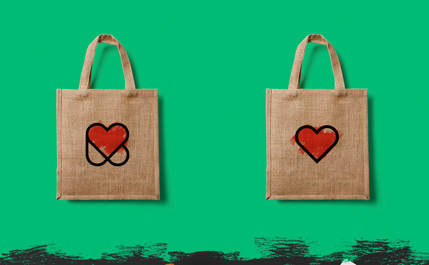 Mockup of bags © All rights reserved to Niklas Beab - Brand & Graphic Design