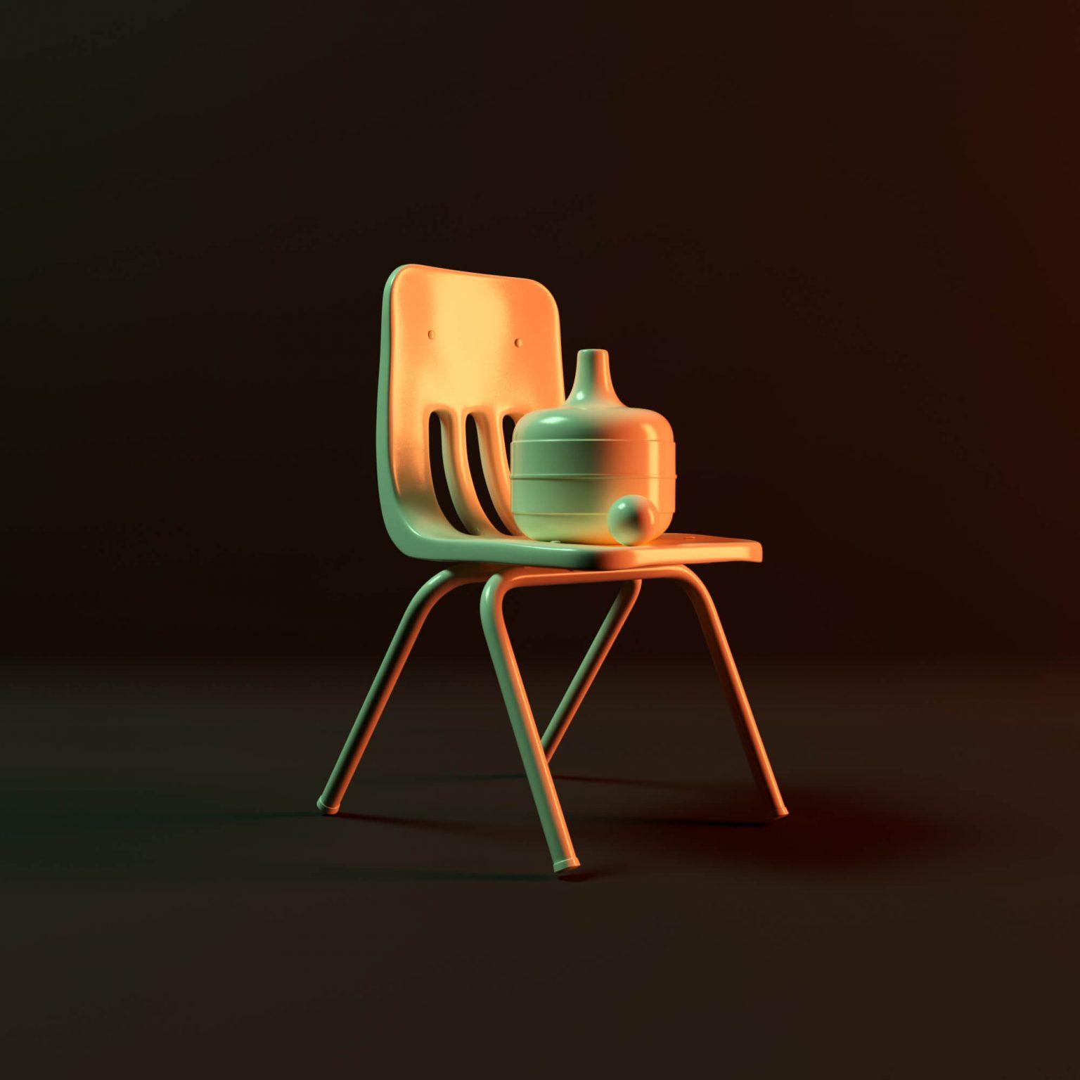 Niklas Beab Chair and Vase 3D Design