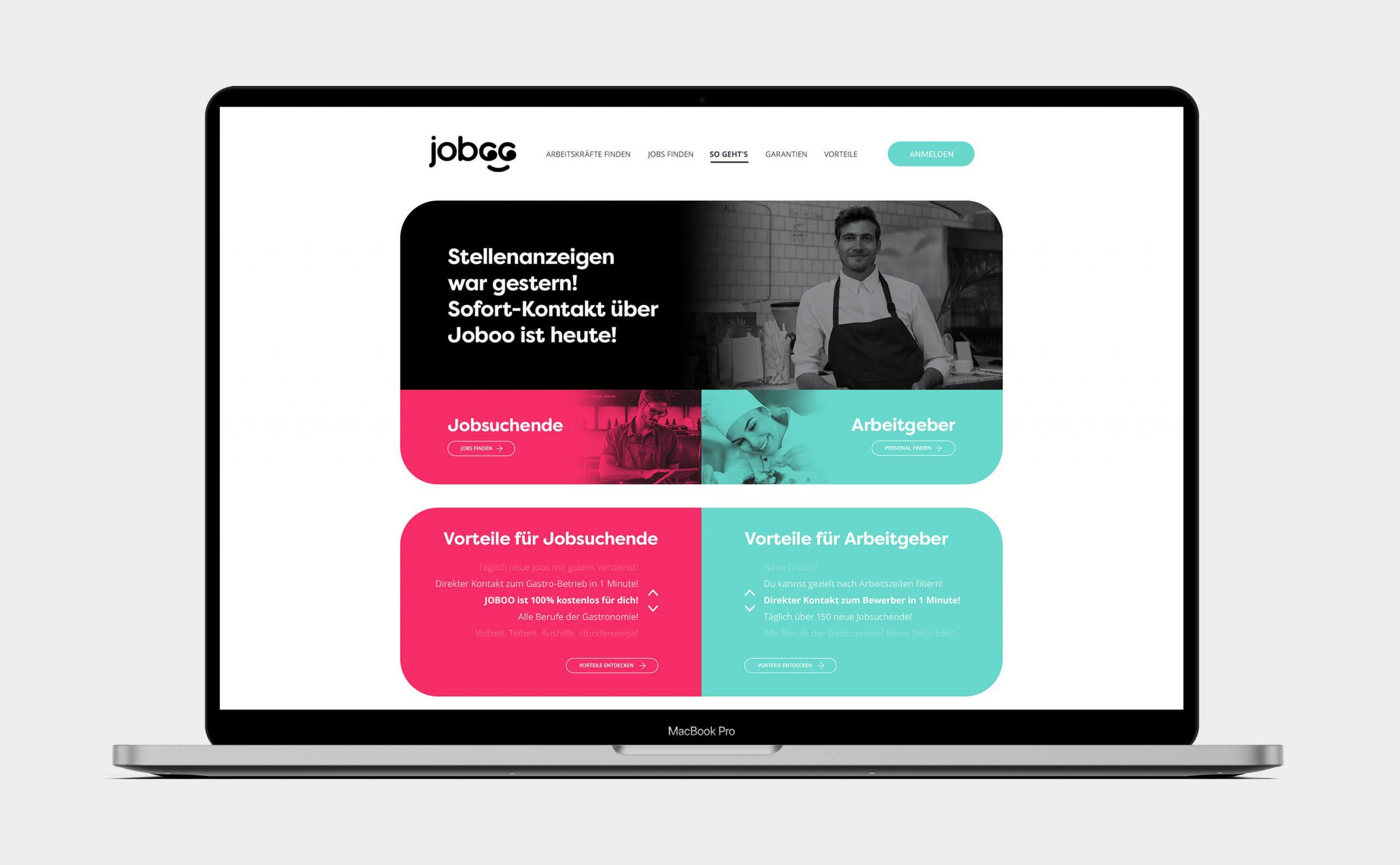 Niklas Beab Joboo Branding Website Concept